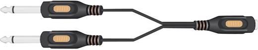 SpeaKa Professional Jackplug Audio Y-adapter [2x Jackplug male 6.3 mm - 1x Jackplug female 6.3 mm] Zwart