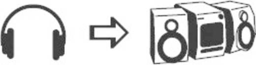 SpeaKa Professional Jackplug Audio Y-adapter [1x Jackplug male 6.3 mm - 2x Jackplug female 6.3 mm] Zwart