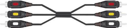 Composite cinch AV Kabel [3x Cinch-stekker - 3x Cinch-stekker] 5 m Zwart SpeaKa Professional