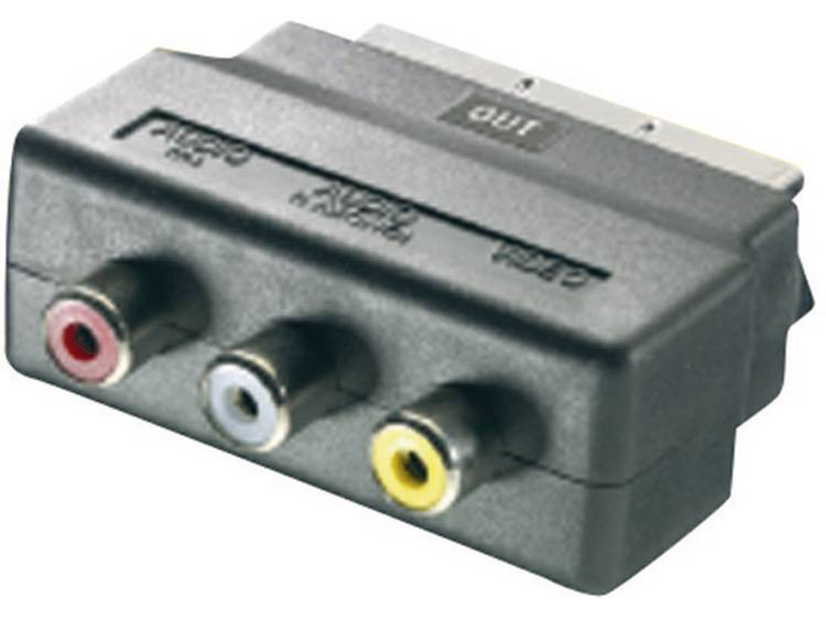 SpeaKa Professional SCART - Cinch Adapter [1x SCART-stekker - 3x Cinch-koppeling] Zwart
