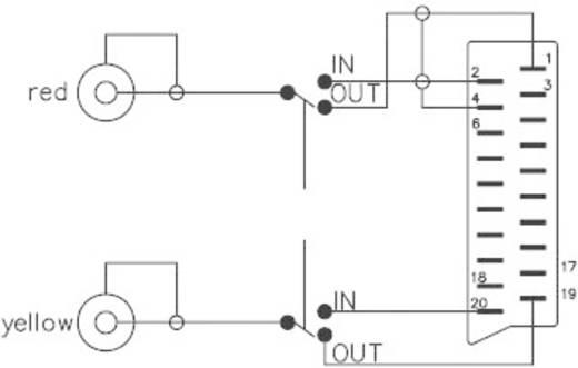 Adapter SCART / Cinch [1x SCART-stekker - 2x Cinch-koppeling] Zwart Met omschakelaar SpeaKa Professional