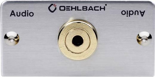 Oehlbach Jackplug [ Jackplug female 3.5 mm - Jackplug female 3.5 mm] 0.27 m Zilver
