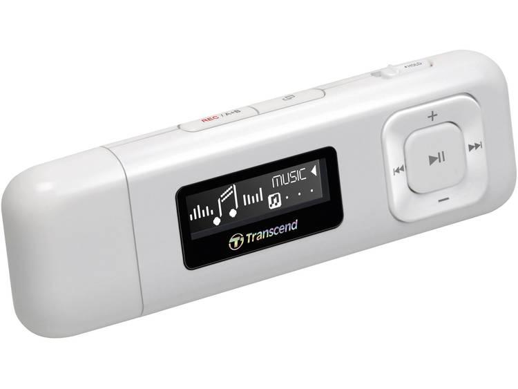 Transcend MP330 MP3-speler 8 GB Wit FM-radio, Bevestigingsclip