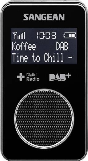 DAB+ Zakradio Sangean DPR-34+ DAB+, FM Herlaadbaar Zwart