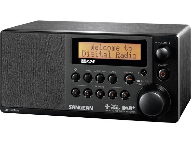 Sangean DDR-31+ DAB+ Tafelradio AUX, DAB+, FM Zwart