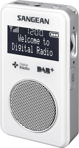 DAB+ Zakradio Sangean DPR-34+ DAB+, FM Herlaadbaar Wit