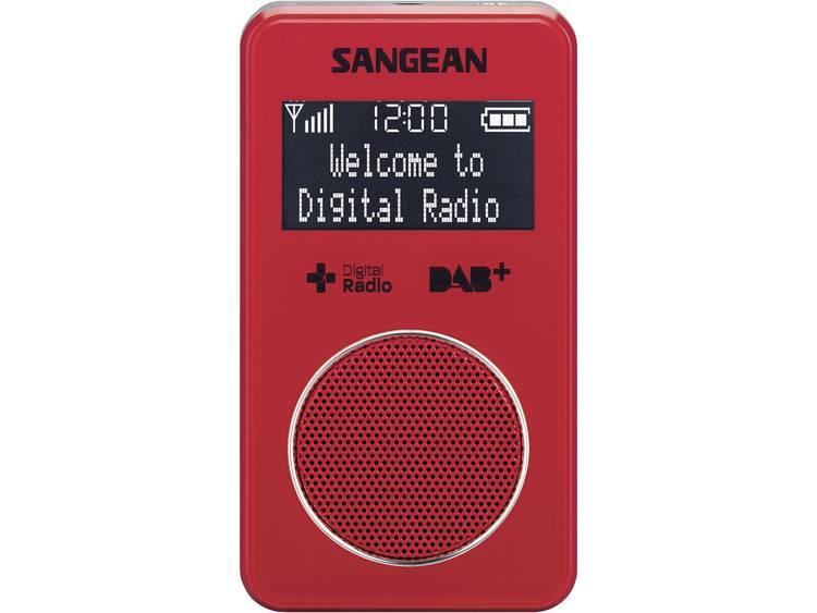 Sangean DPR-34+ Zakradio DAB+, FM Herlaadbaar Rood