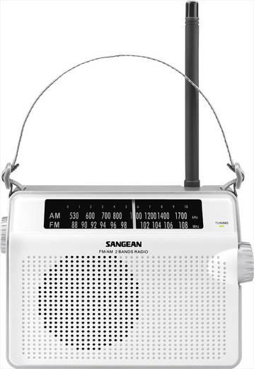 Sangean PR-D6 FM Transistorradio Middengolf, FM Wit