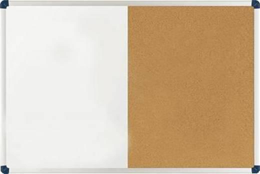 Nobo combibord/1901587 60x90cm wit/bruin metaal/kurk