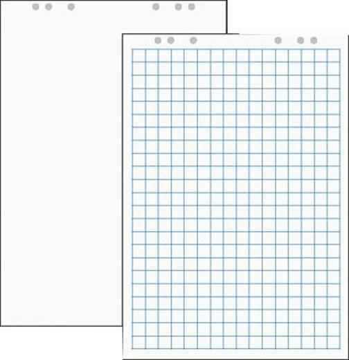 Staufen flipchartblok/49995 67x99 cm ruitjes/blanco 80 g/m² inh. 5 stuks