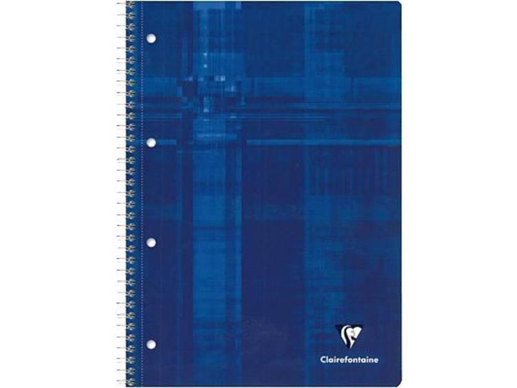 Clairefontaine collegeblok/8252C DIN A4 blauw geruit 90 g/m²