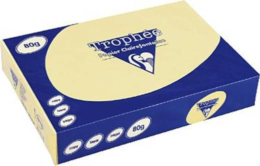 Clairefontaine Trophee-papier geel/1884C DIN A3 80 g/m² inh.500 vel