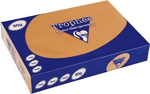 Clairefontaine Trophee-papier A3 oranje/1762C 80 g inh.500 vel