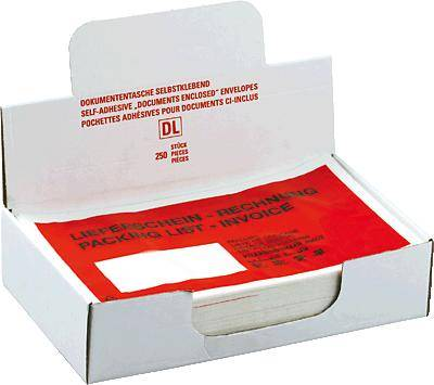 Documententasje C5 leverbon factuur/522183 250 rood/zwart inh.250