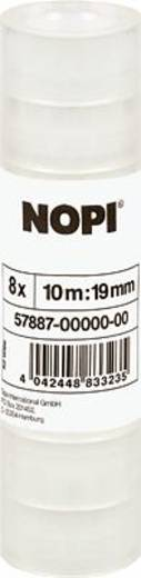 Nopi Nopi Plakband Transparant (l x b) 10 m x 19 mm Acryl Inhoud: 8 rollen