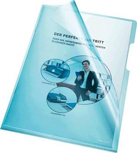 Bene transparante hoes A4, blauw/205000 pvc 150 my inh. 100 stuks