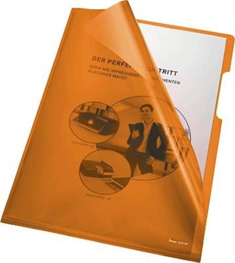 Bene transparante hoezen A4, oranje/205000 PVC 150 my inh.100