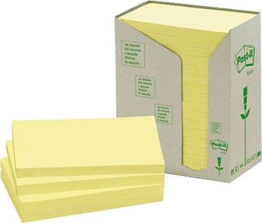 Post-it plakbriefjes recyclingpapier/655-1T 127 x 76 mm geel inhoud 16 st.