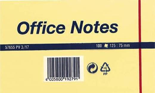 tesa Office-Notes/57655-00000-04 125x75 mm geel inh. 100 vel