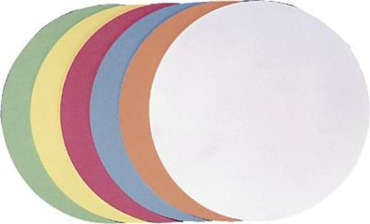 FRANKEN presentatiekaarten rond/UMZ 20 07 Ø 19,5 cm rood 130 g/m² inh.500 st.