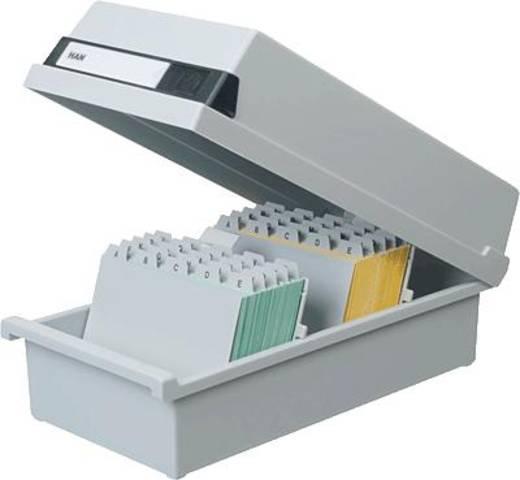 Han-kaartenbak voor 1300 kaarten/954-11 A4 liggend lichtgrijs kunststof