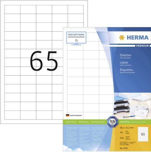 HERMA SuperPrint etiketten/4270 38,1 x 21,2 mm wit omlopende rand inhoud: 6500 stuks