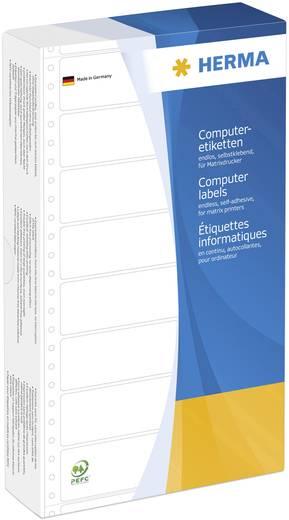 HERMA computeretiketten/8072 147,32 x 99,20 mm wit 1 baan, geperforeerd inhoud: 1000 stuks