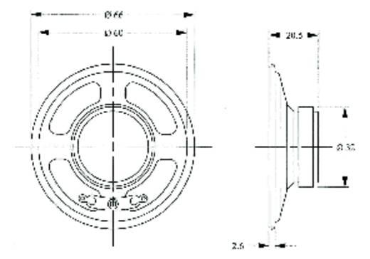Luidspreker LSM-66 M/F Geluidsontwikkeling: 88 dB 8 Ω Nominale belastbaarheid: 500 mW 430 Hz Inhoud: 1 stuks