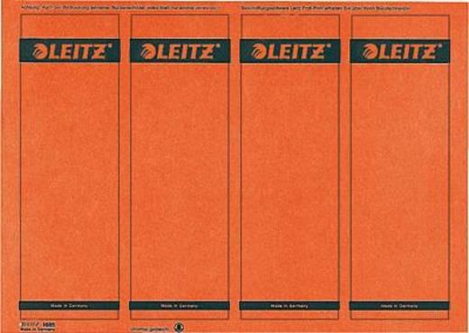 Leitz rugetiketten, op pc beschrijfbaar/1685-20-25 61x191mm rood inh.100