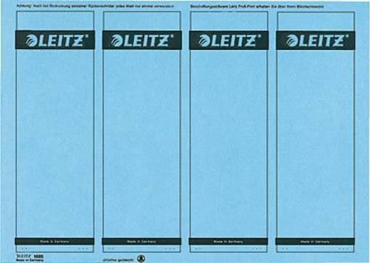 Leitz rugetiketten, op pc beschrijfbaar/1685-20-35 61x191mm blauw inh.100