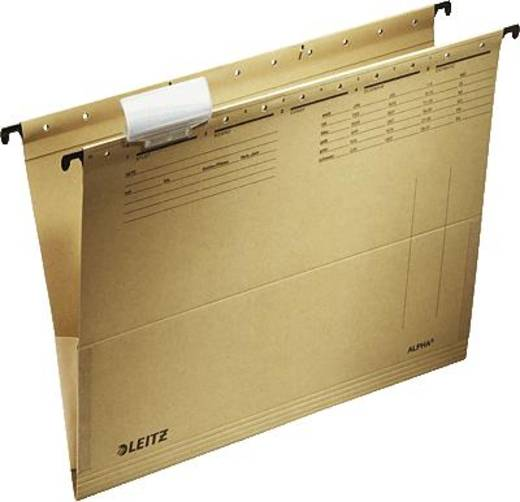 Leitz hangmap Alpha/1916-00-00 A4 natuurbruin (RC) 230 g/m² inh. 25 stuks