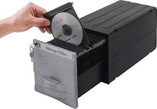 Exponent CD/DVD Box Media Solution 160/34600 zilver/zwart voor 160 CD/DVD