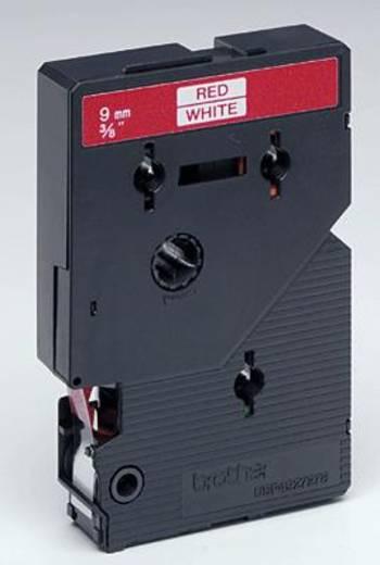 Brother TC-292 Labeltape Tapekleur: Wit Tekstkleur:Rood 9 mm 7.7 m