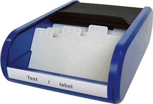 Helit-opbergdoos voor visitekaartjes/H6218093 zwart/blauw visitekaart-opbergdoos