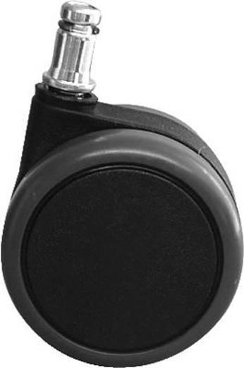 Topstar design-zwenkwielen voor harde vloeren/6990 zwart/grijs 5 stuks