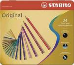 Stabilo Original kleurpotloden met dunne kern, 24 stuks