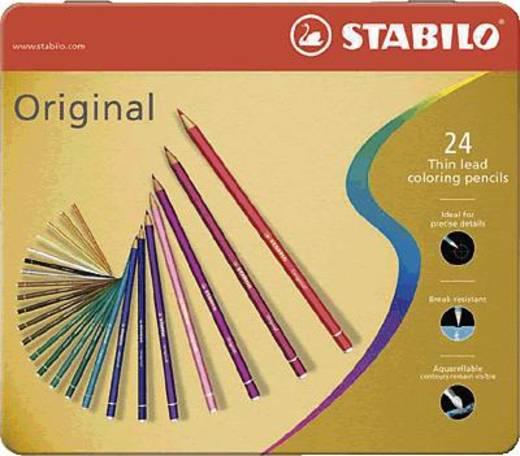 Stabilo Original 8774-6 kleurpotloden met dunne kern 24 stuks
