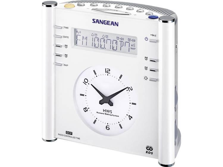 Sangean RCR-3 FM Wekkerradio AUX, Middengolf, FM Wit