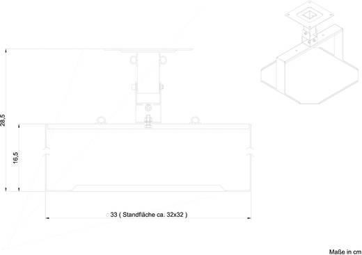 Beamer-plafondbeugel Projectordrager 325 mm Zilver (mat)