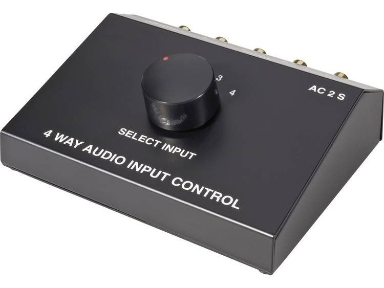 SpeaKa Professional 4 poorten Cinch-audio-switch