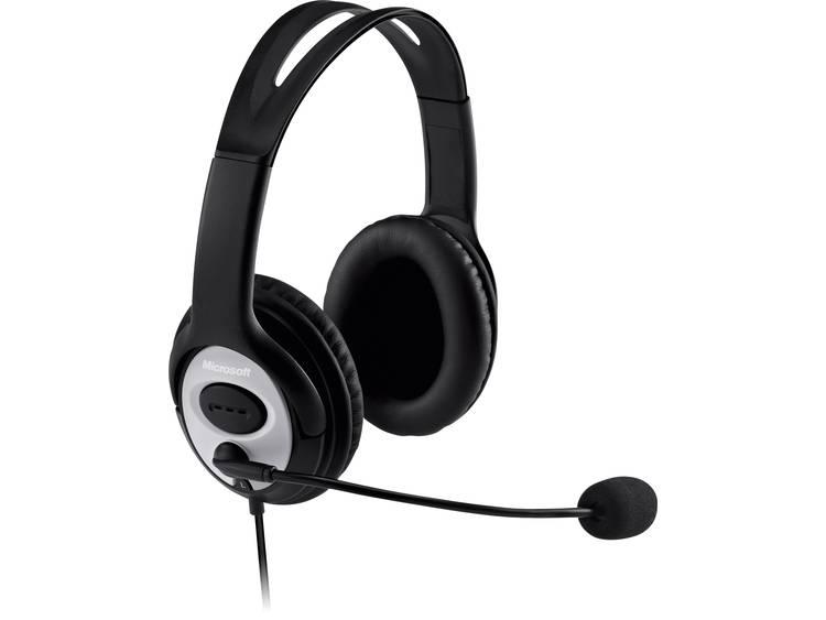 Microsoft LifeChat LX-3000 PC-headset USB Kabelgebonden, Stereo Over Ear Zwart/zilver