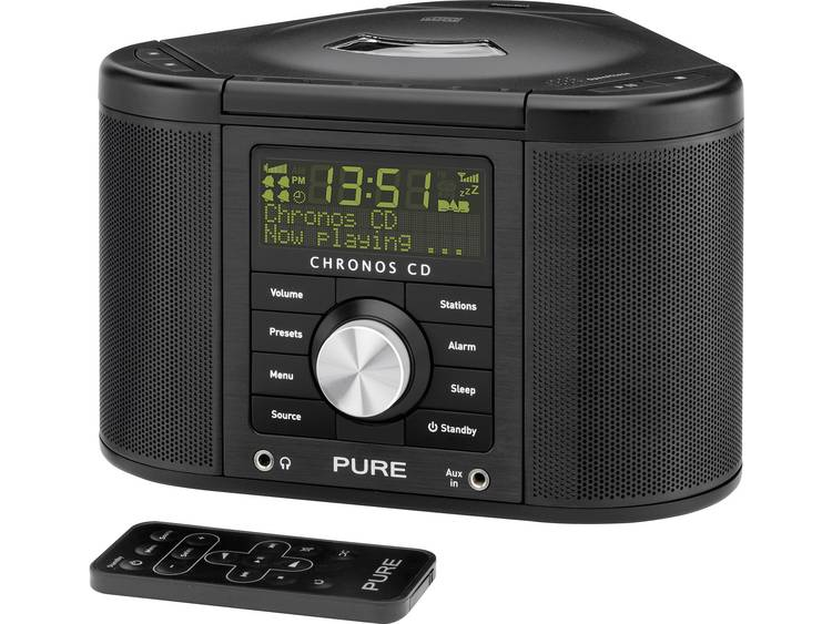 Pure Chronos CD Serie II DAB+ Wekkerradio AUX, CD, DAB+, FM Zwart
