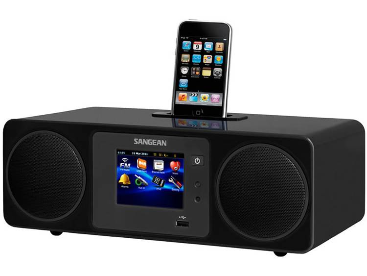 Sangean WFR-2D Tafelradio met internetradio DAB+, FM Apple-dock, AUX, Internetra