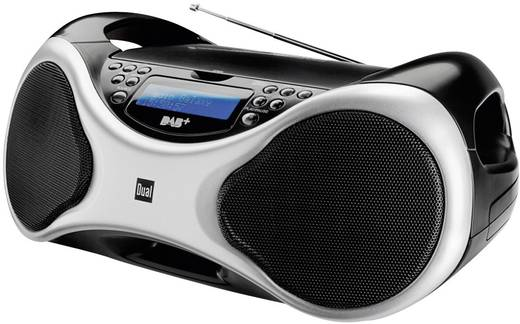 DAB+ CD-radio Dual DAB-P 100 AUX, CD, DAB+, FM, USB Zilver, Zwart