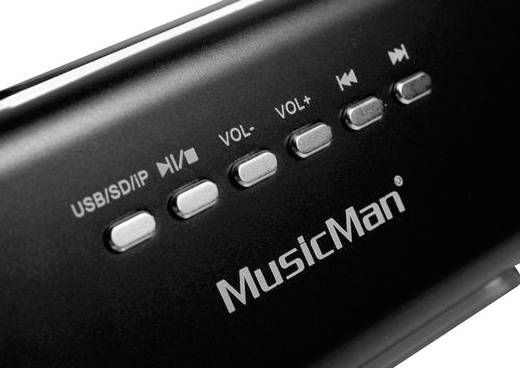 Technaxx MusicMan Docking Soundstation Docking luidspreker USB, AUX, Apple Dock, SD Zwart
