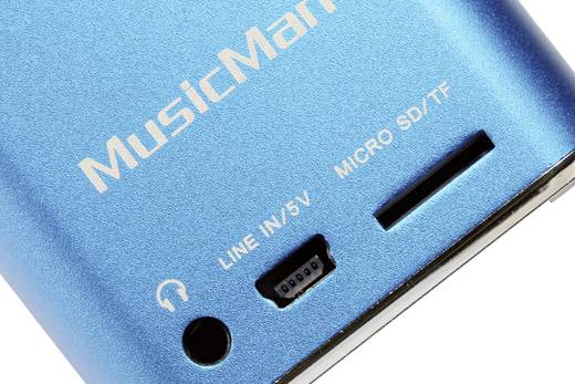 Technaxx MusicMan Mini Soundstation blauw Kabelgebonden speaker Blauw