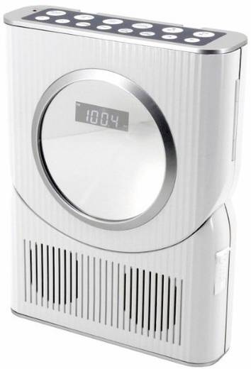 FM Badradio SoundMaster BCD 250 CD, FM Spatwaterbestendig Zilver