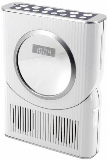 SoundMaster BCD 250 FM Badradio CD, FM Spatwaterbestendig Zilver