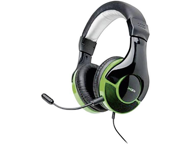 Gaming headset 2.5 mm jackplug Kabelgebonden, Stereo G-Star HS-343XP Over Ear Zwart, Groen