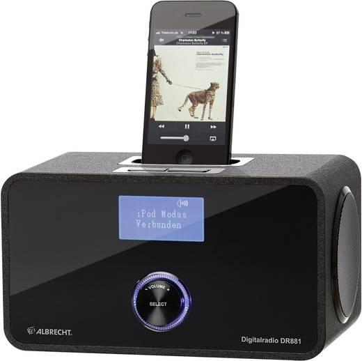 albrecht dr 881 dab tafelradio met dockingstation voor ipod en iphone. Black Bedroom Furniture Sets. Home Design Ideas